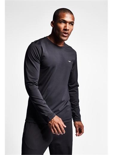 Lescon Siyah Erkek Uzun Kollu T-Shirt 21K-1038 Siyah